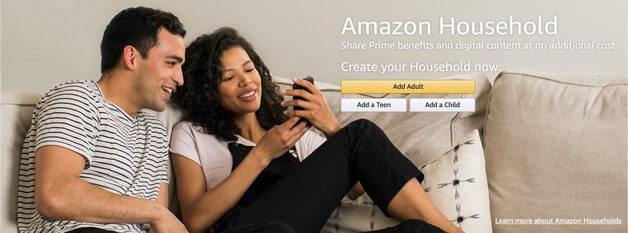 Amazon Household Page