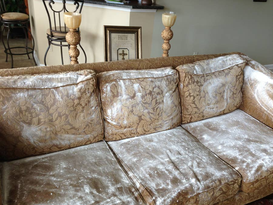 baking soda on couch