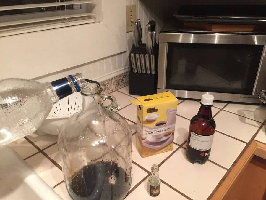 Mixing liquor essence with Vodka