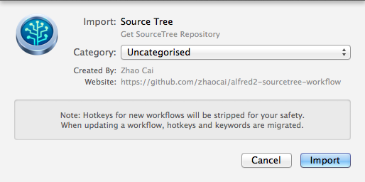 Install the workflow
