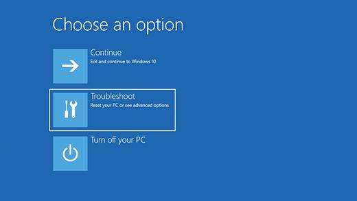 Windows 10 safe mode settings