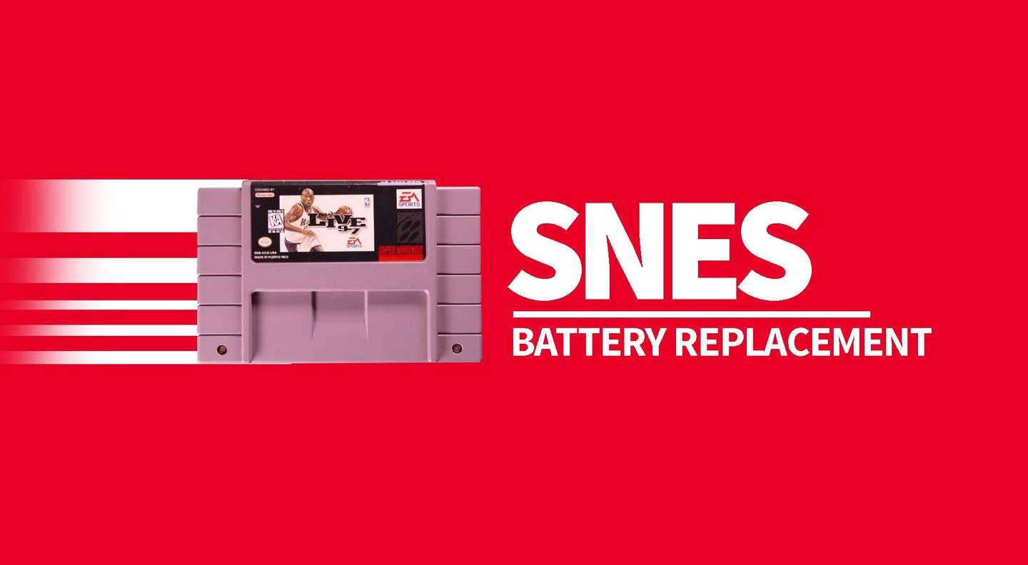 SNES cartridge battery replacement