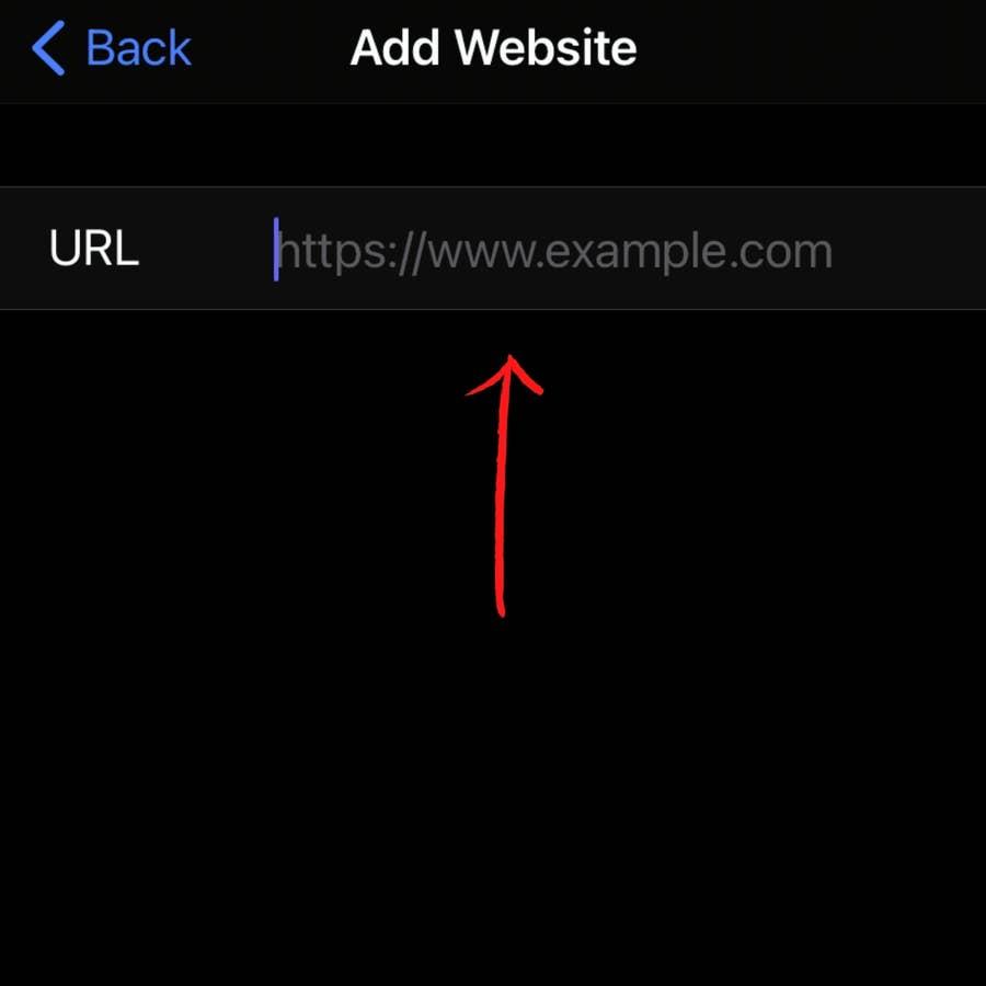 Add the Website