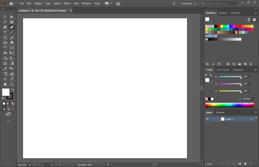 Illustrator New Project