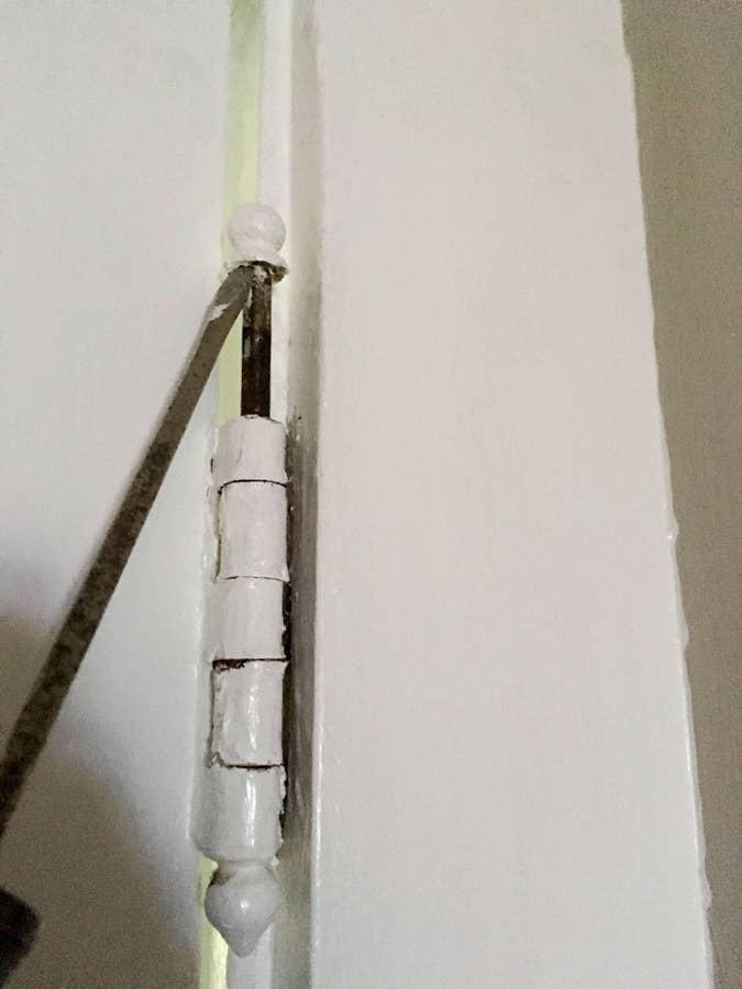 Remove door from hinges
