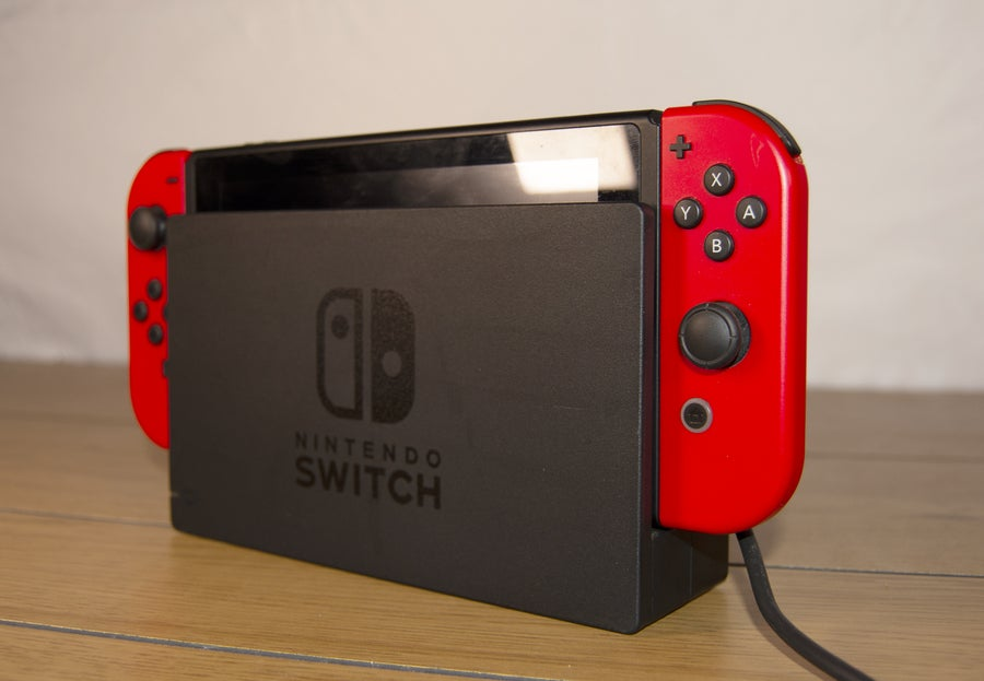 Nintendo Switch on docking station