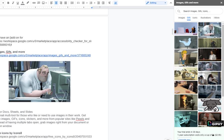 insert images gifs addon google workspace