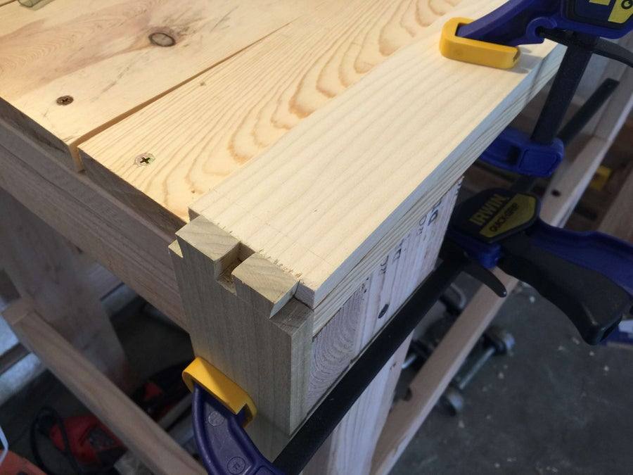 Line up the wood to measure your pin board