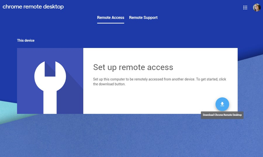 Set up Chrome Remote Desktop