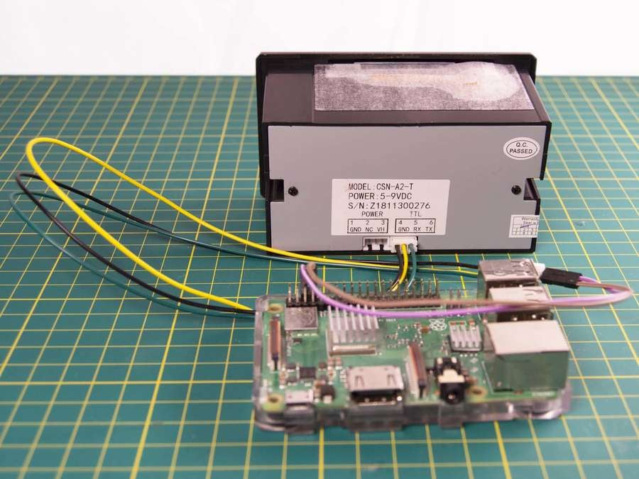 Raspberry Pi wired to adafruit thermal printer
