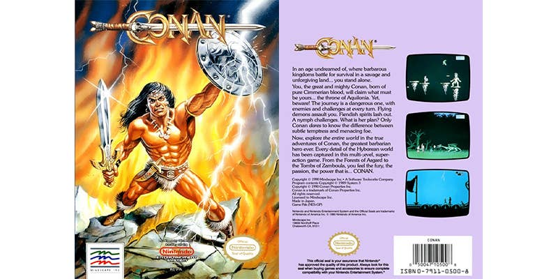 conan the barbarian mysteries of time nes