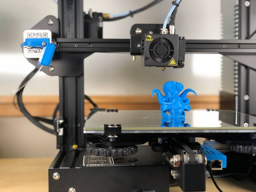A 3D-printed OctoPrint Octopus