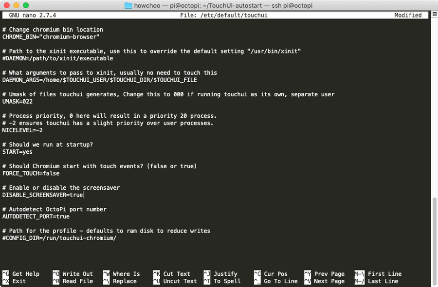Disabling TouchUI screensaver