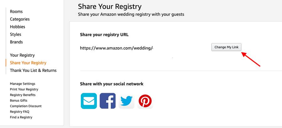 Amazon Share Registry Link