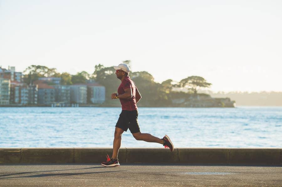 Man Running at Seaside