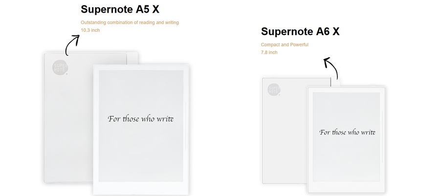 Supernote comparison