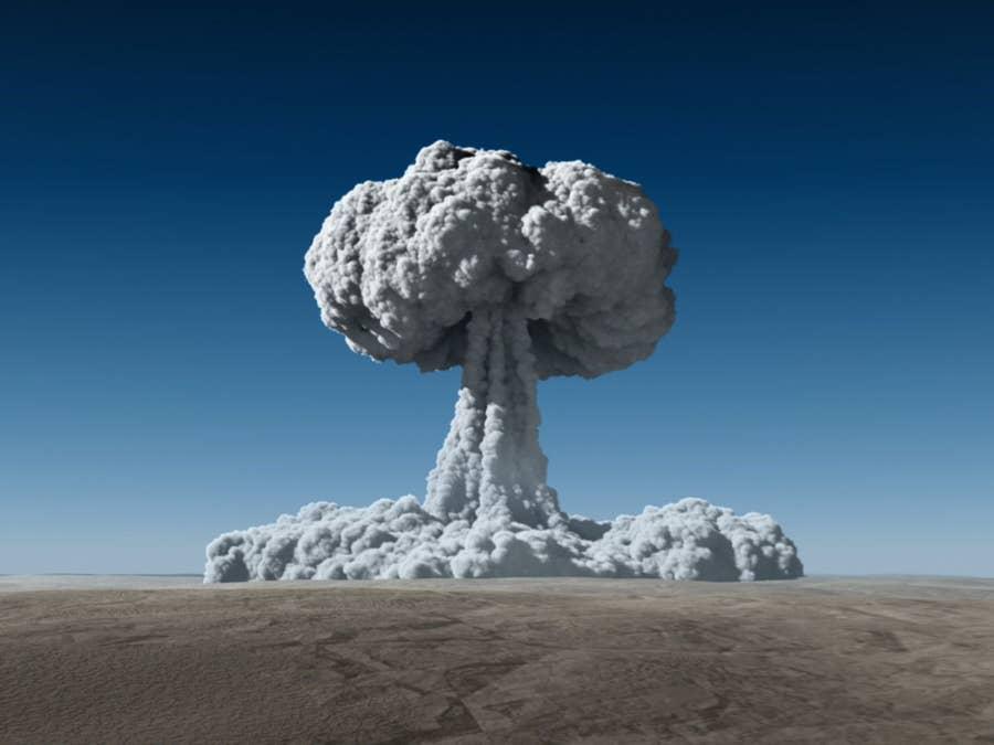 Atom Bomb in desert