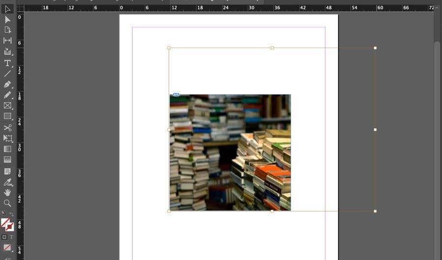 Image Enlarged Outside Frame InDesign