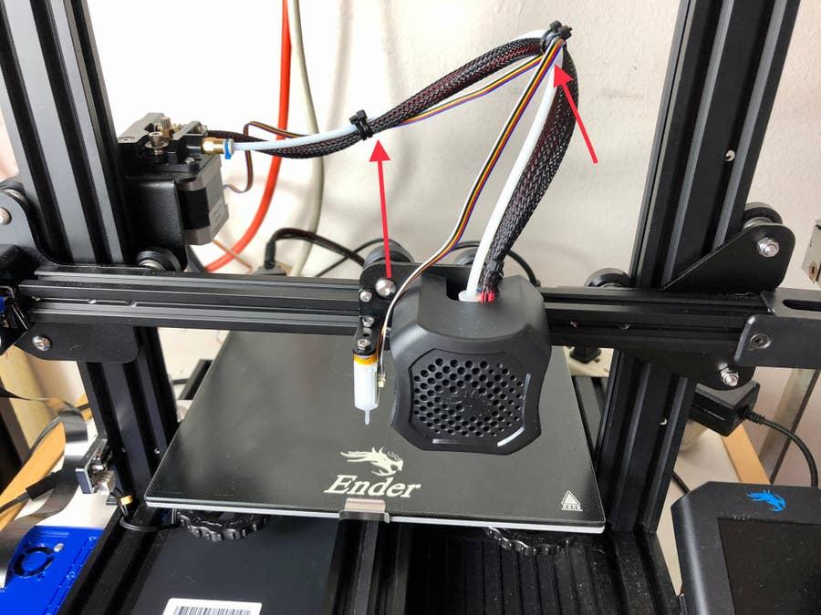 securing wires BlTouch Ender 3 V2