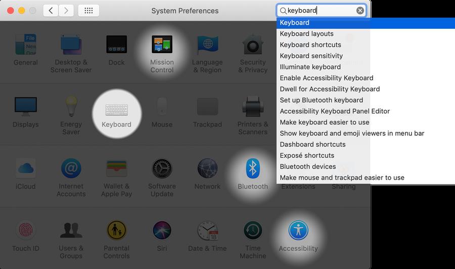 Open Keyboard Settings