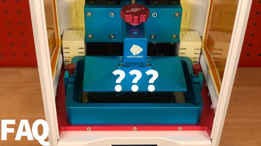 Resin Printing FAQs