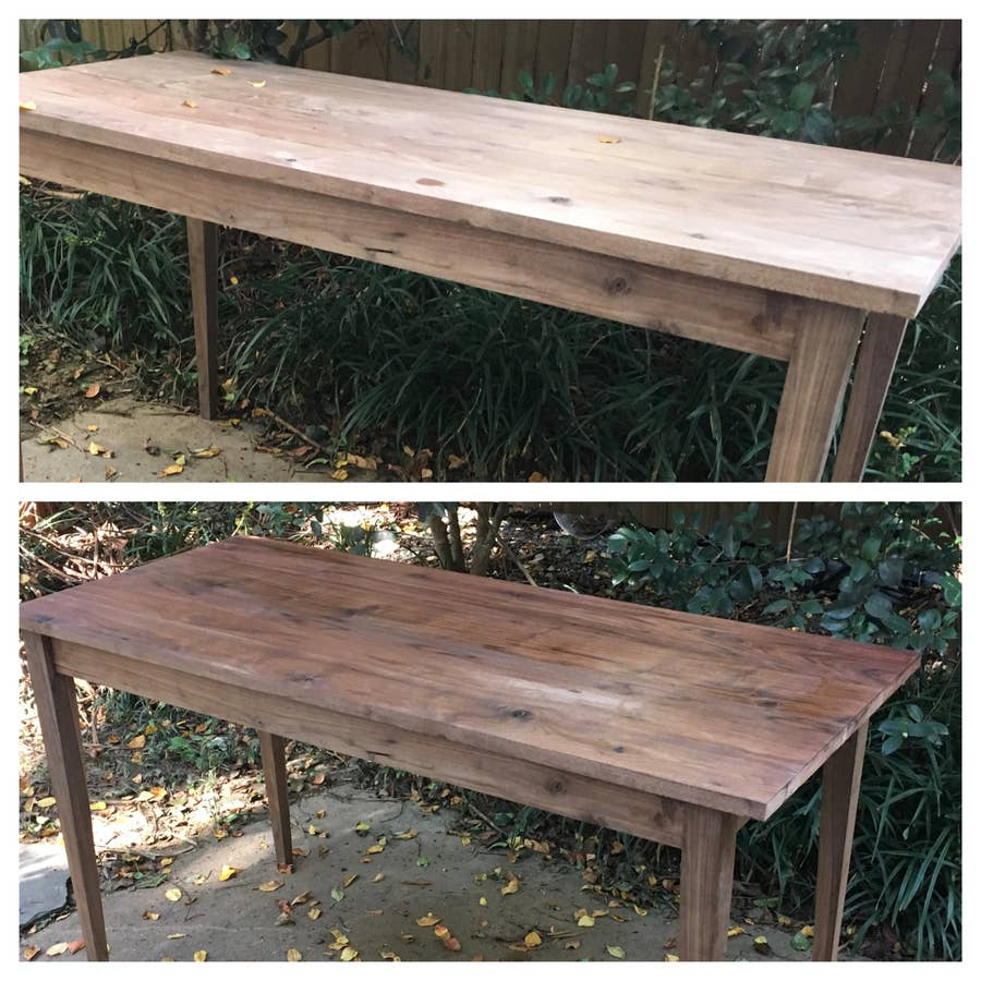 danish oil before and after