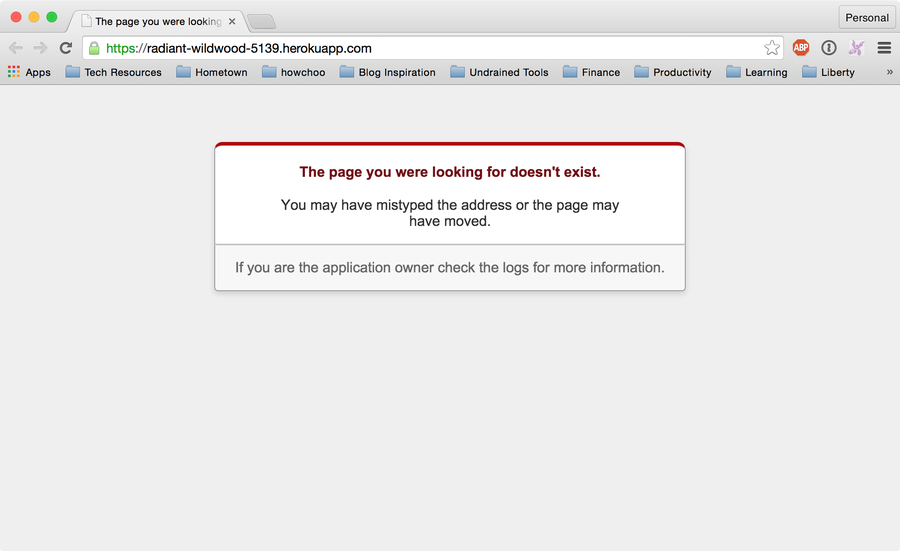 Test our heroku environment
