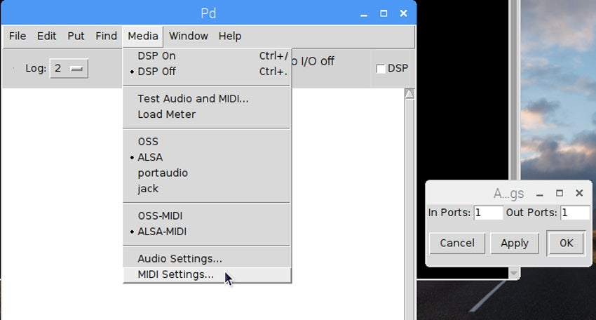 Adjust MIDI settings