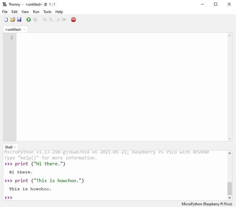 Program Pico with MicroPython