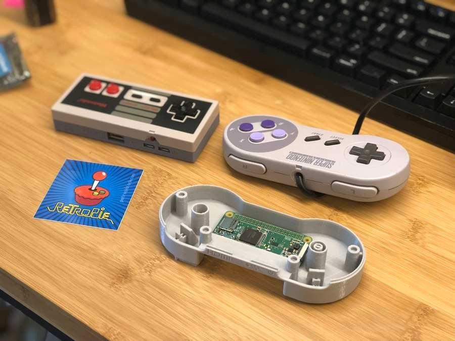 3D Printed SNES controller GamePad Zero