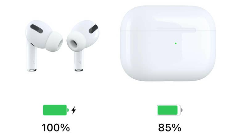 AirPods Pro Battery Charge Levels