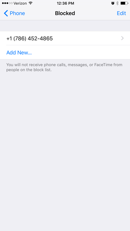 Manage your blocked caller list