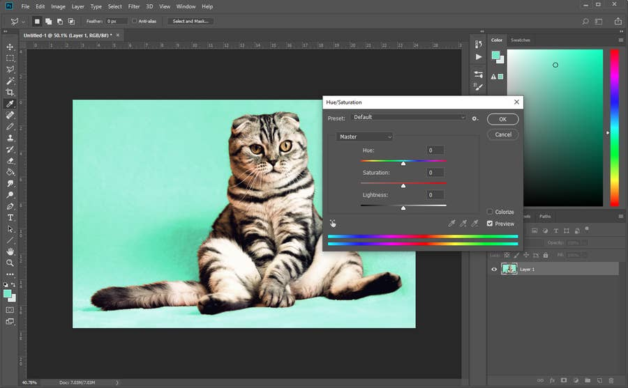 Photoshop Background Color Change