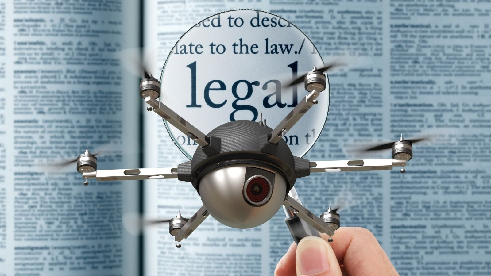Legality of drones.