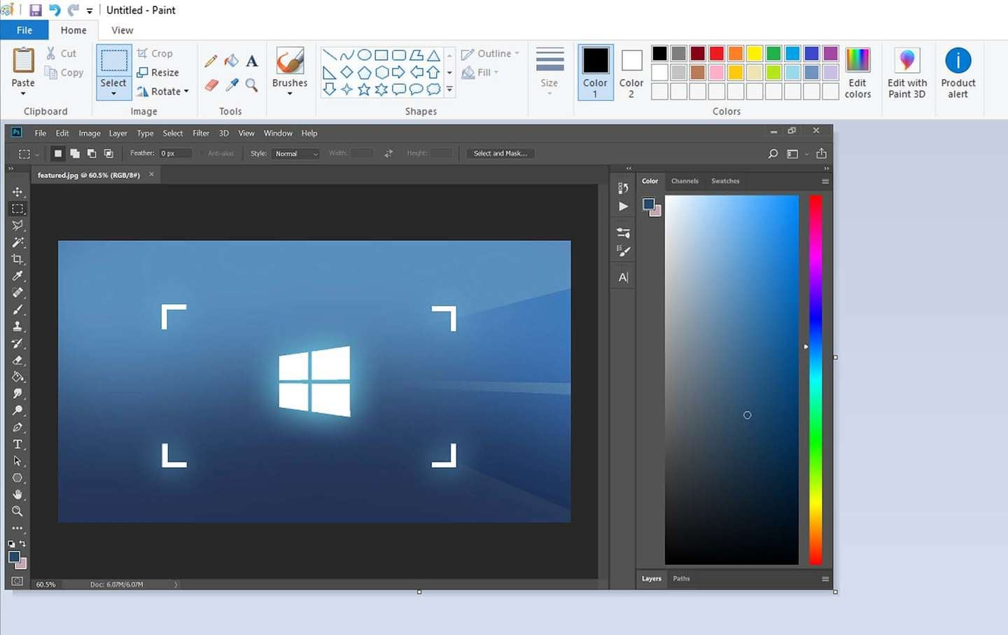 windows screenshot paint