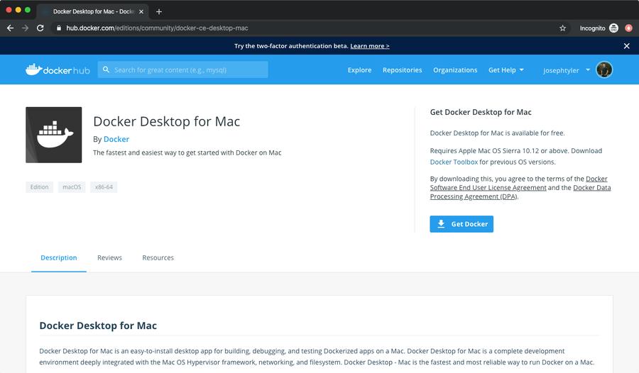 Download Docker Desktop