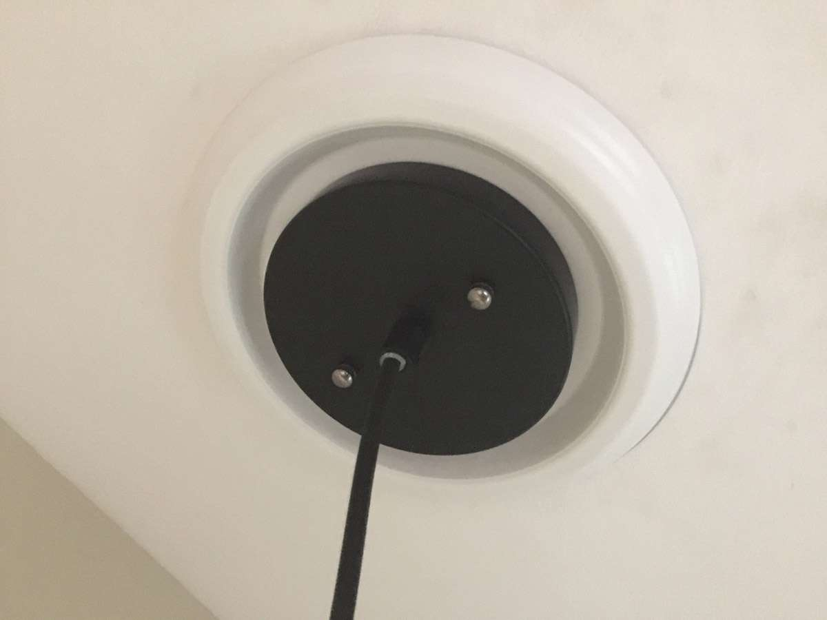 Attach the pendant light base to the ceiling