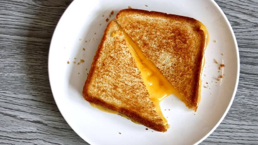 Grilled Cheese Flipping Hack