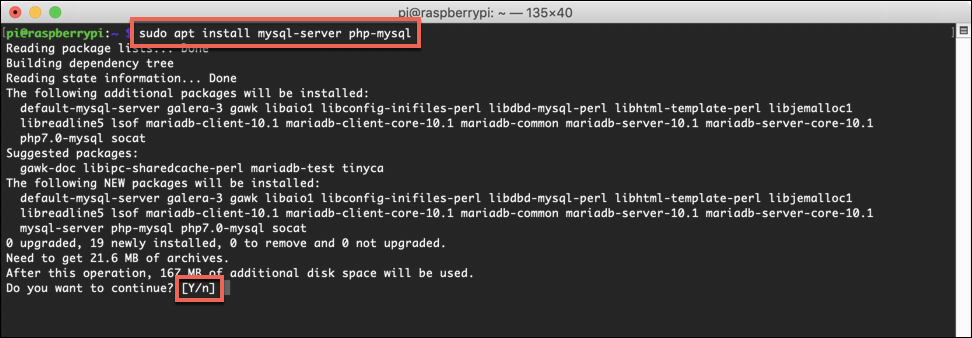 Installing MariaDB on a Raspberry Pi Web server