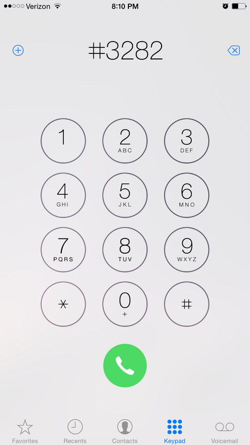 Dial #DATA (#3282) and press the Call button