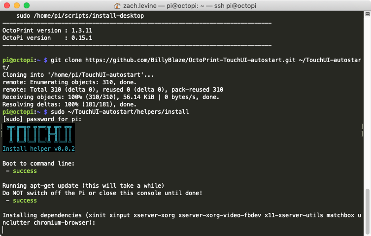 Installing the TouchUI boot to browser script