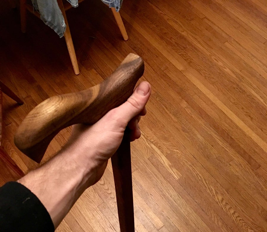 How to Make a DIY Walking Cane Using Upcycled Walnut