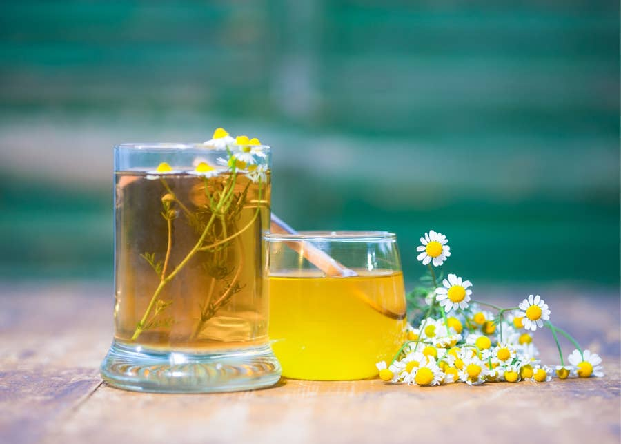Chamomile simple syrup.