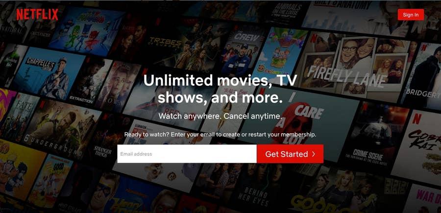 Netflix homepage 2021