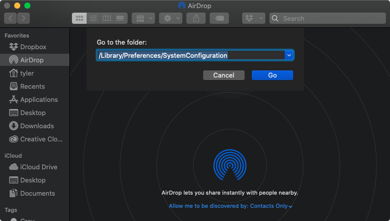 macOS open system configuration