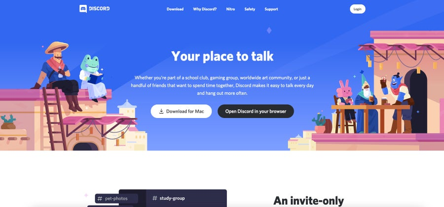 discord homepage 2021