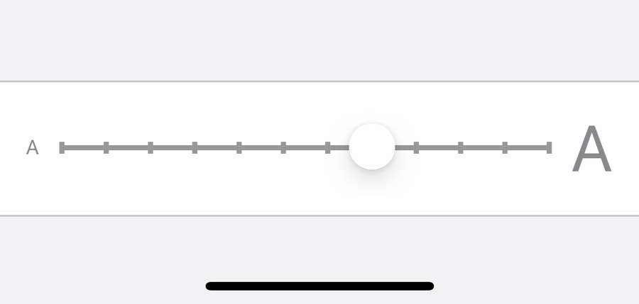 iPhone Font Size Scroll
