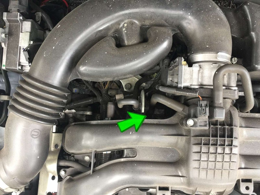 Subaru XV Crosstrek PCV valve location