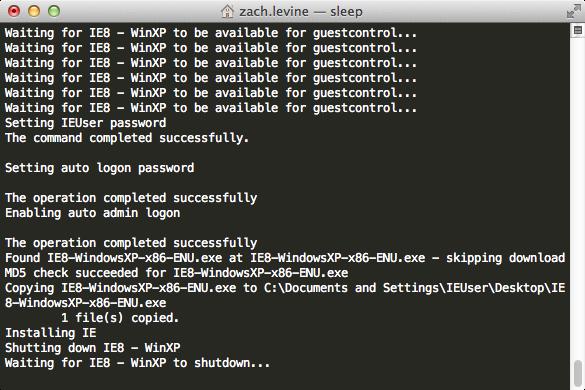 Download and install the Internet Explorer VM (disk) images