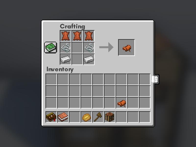 craftable saddle horse armor forge mod minecraft